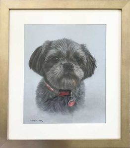 Framed Shih Tzu Pet Portrait