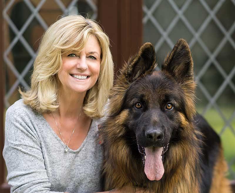 Lorraine Gray & Dog