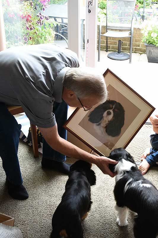 Pet Portrait being opened