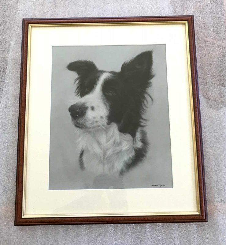 Hahnemuhle Velour pastel paper portrait framed