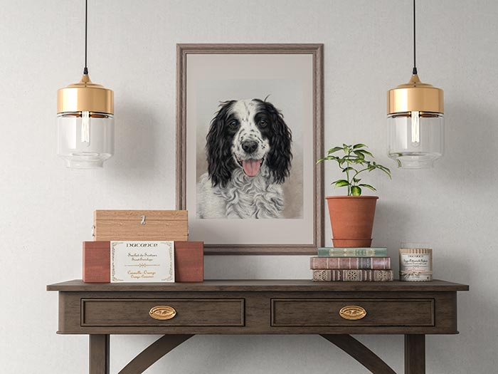 Pet Painting on wall